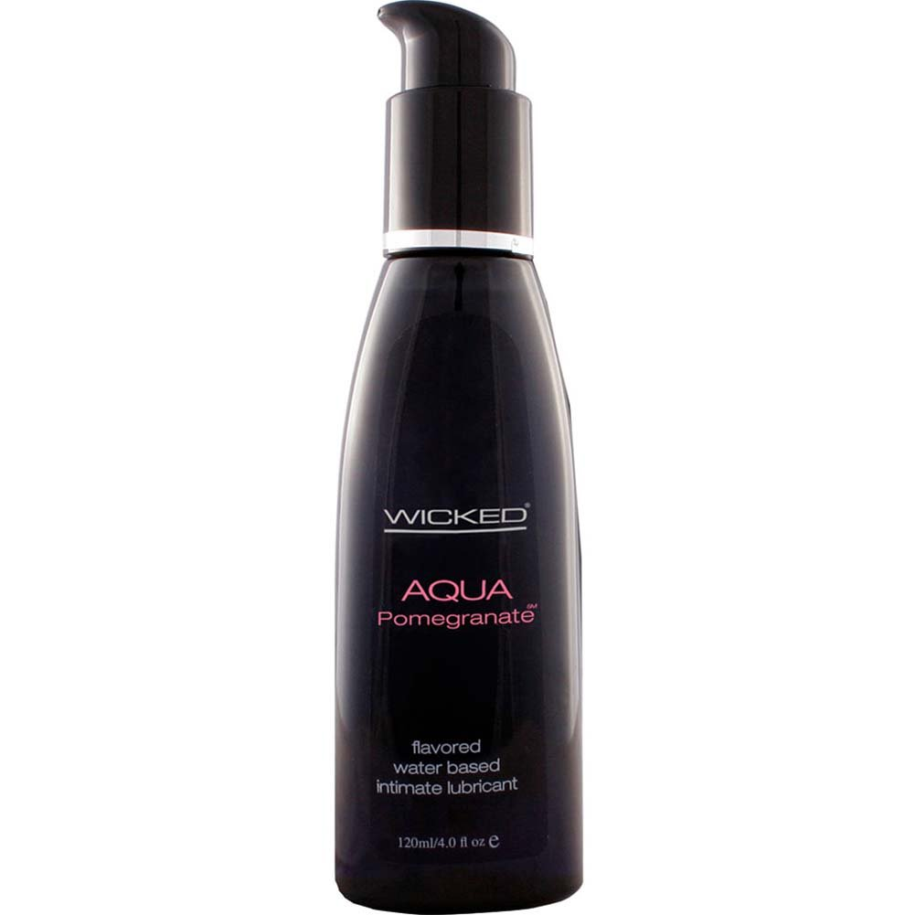 Wicked Aqua Pomegranate Flavored Water Based Lubricant 4 Fl. Oz. - View #1