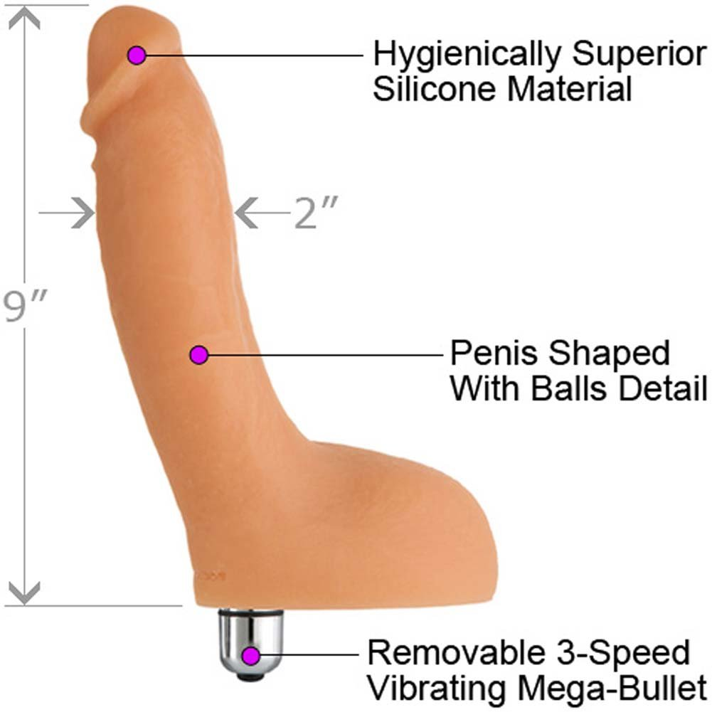 "James Deen Silicone Vibrating Cock 9"" Natural - View #1"