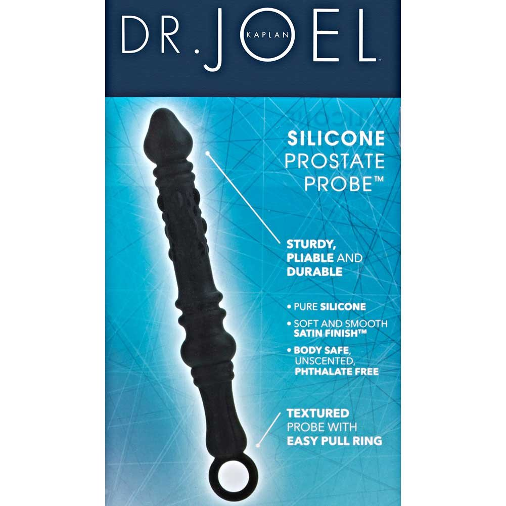 "California Exotics Dr. Joel Kaplan Silicone Prostate Probe 8.75"" Black - View #1"