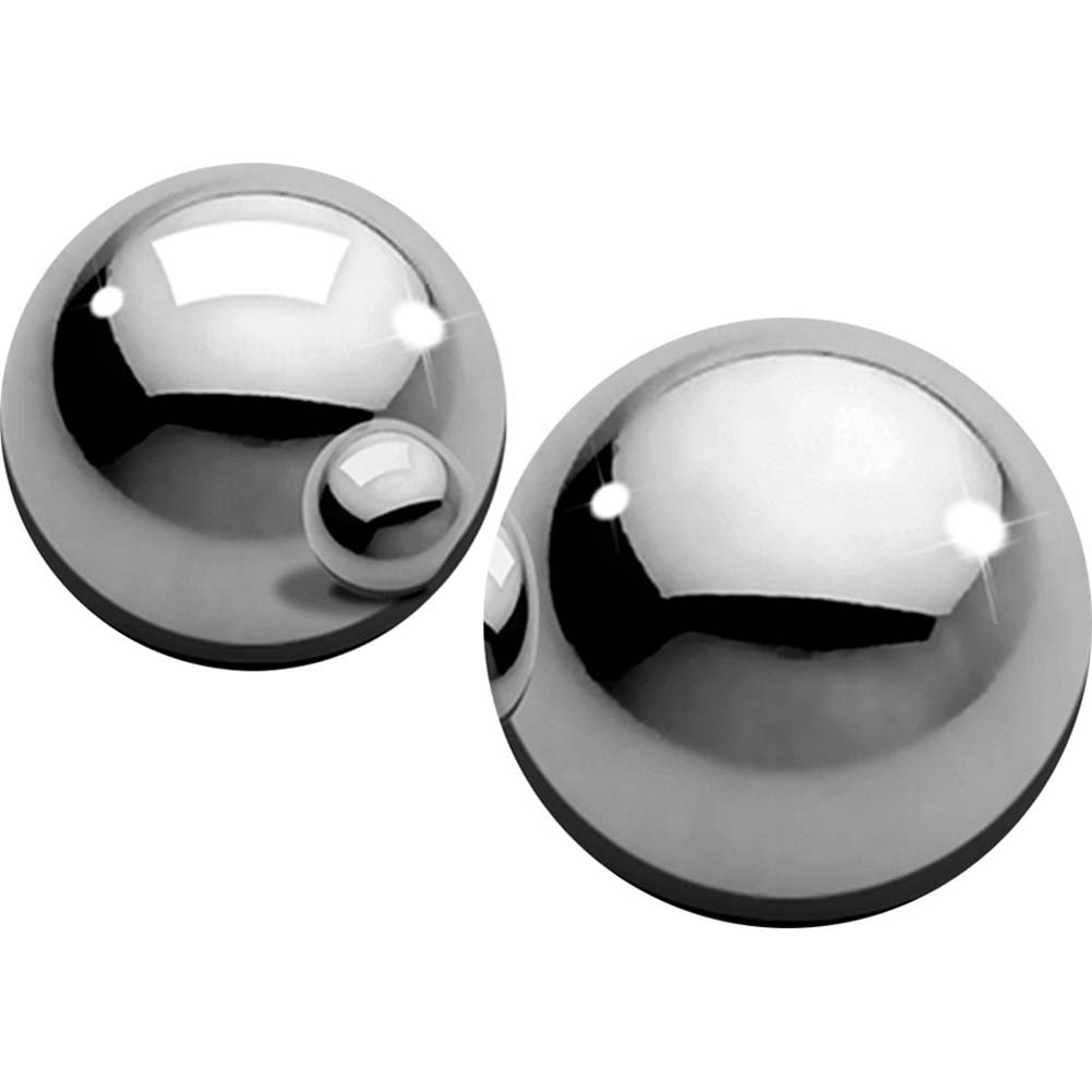"Metal Worx Ben Wa Balls Medium 1"" Silver - View #2"