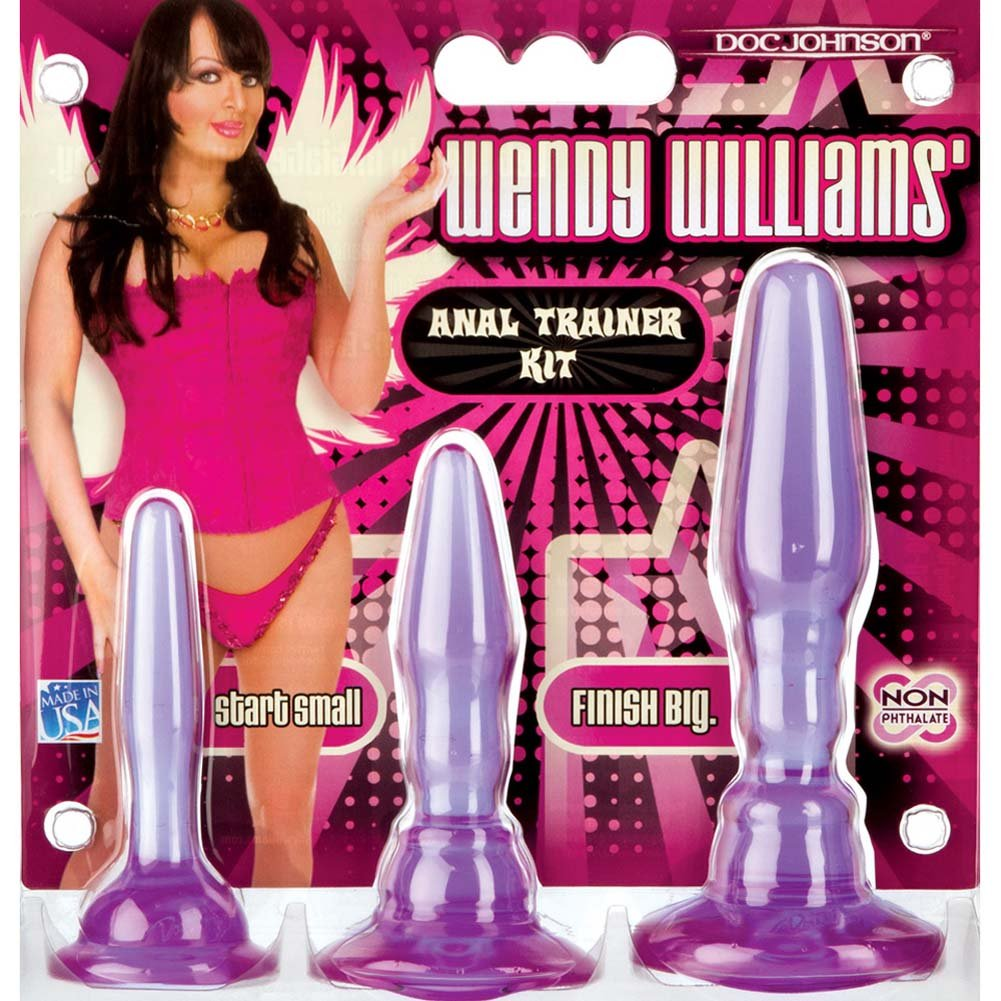 Wendy Williams Anal Trainer Kit with 3 Butt Plugs Purple. - View #3