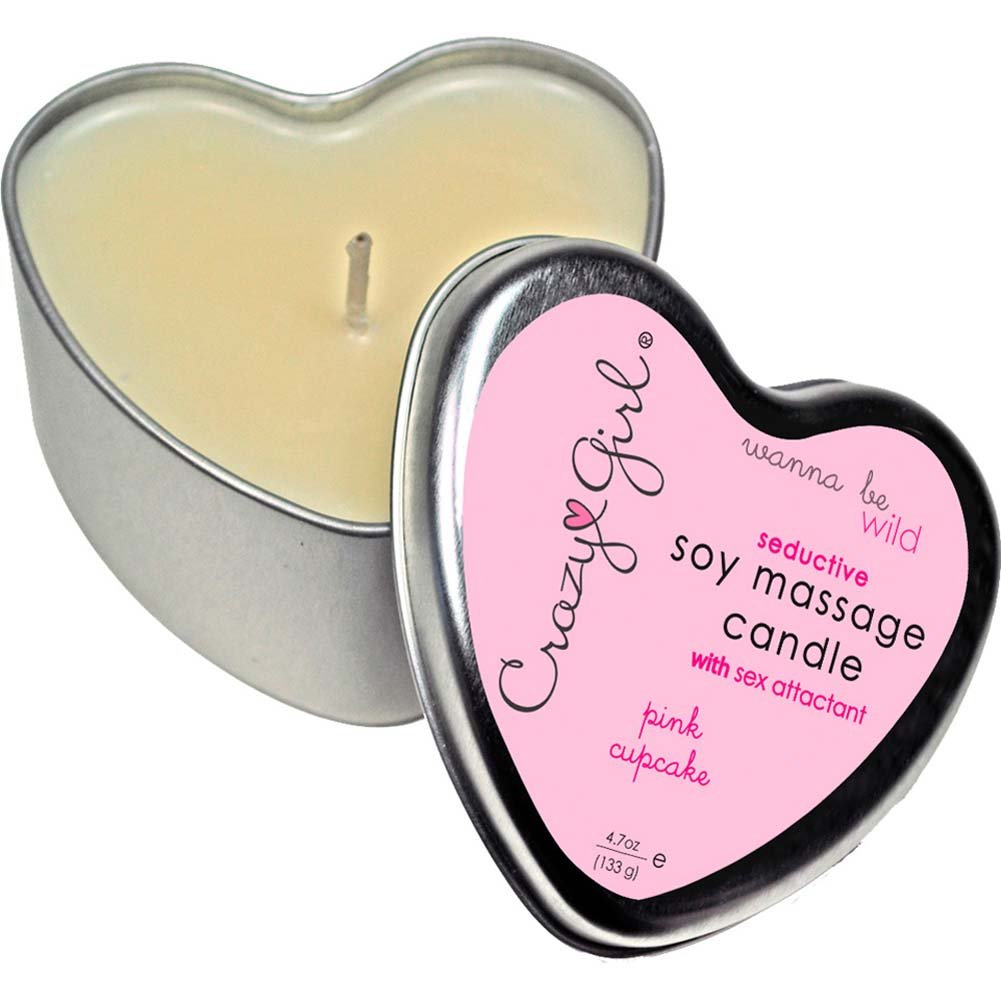 Crazy Girl Seductive Soy Massage Candle 4.7 Oz 133 G Pink Cupcake - View #1