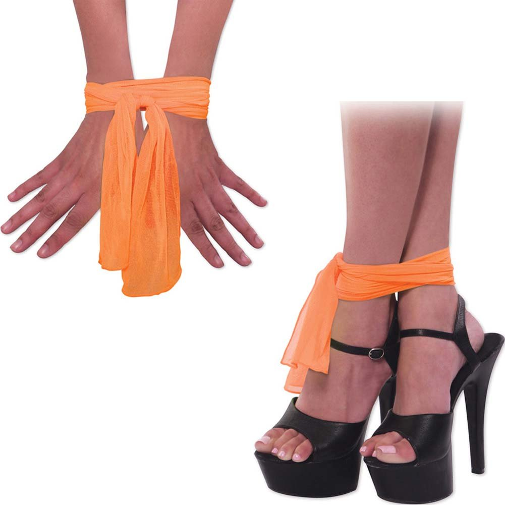 Neon Nylon Love Ties Orange - View #1