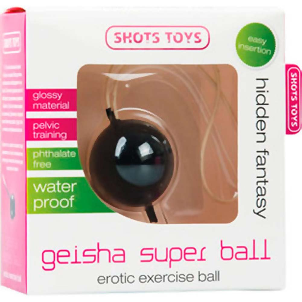 Shots Toys Geisha Super Ball Erotic Kegel Exercise Ball Black - View #1