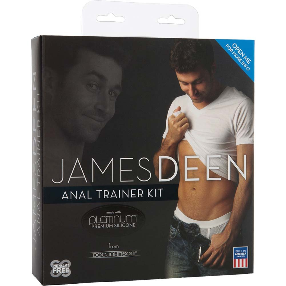 James Deen Anal Trainer Kit with 2 Butt Plugs and Lube - View #1