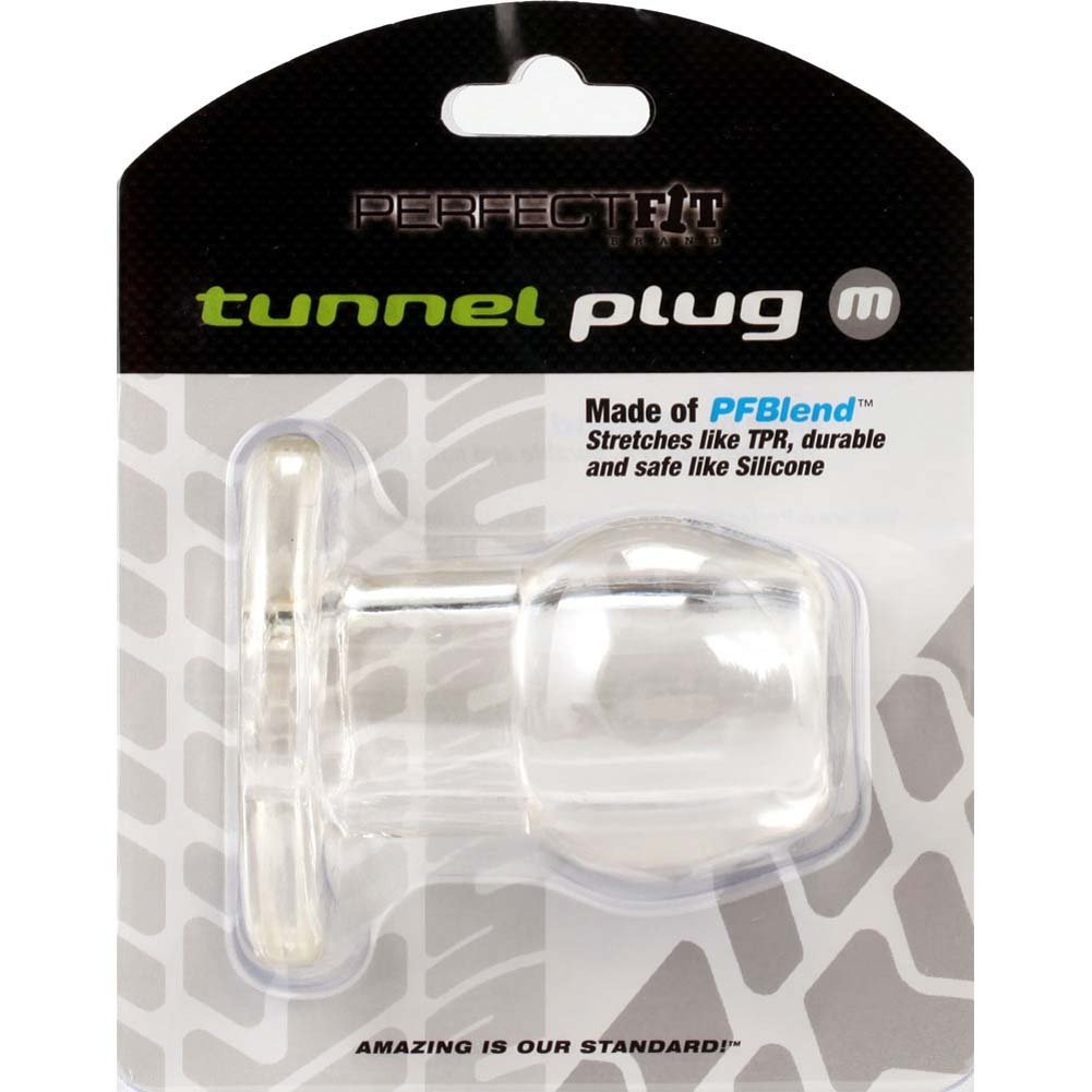 "Perfect Fit Tunnel Plug Medium 3.25"" Clear - View #3"
