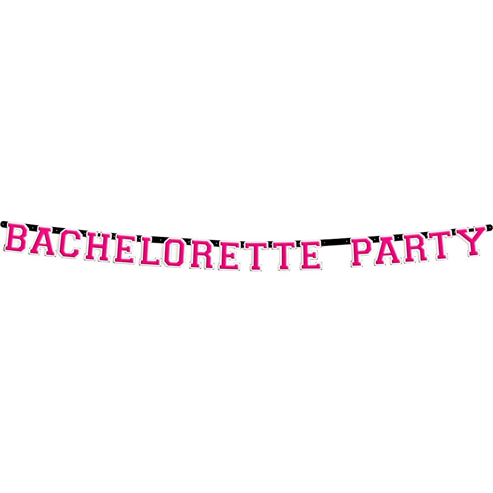 Bachelorette Party Letter Banner 9 Feet Pink - View #2