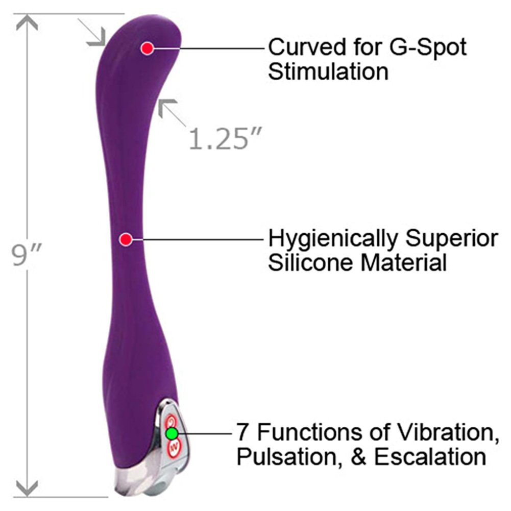 "California Exotics EVA Extreme Vibrating Action G-Spot Massager 9"" Purple - View #1"