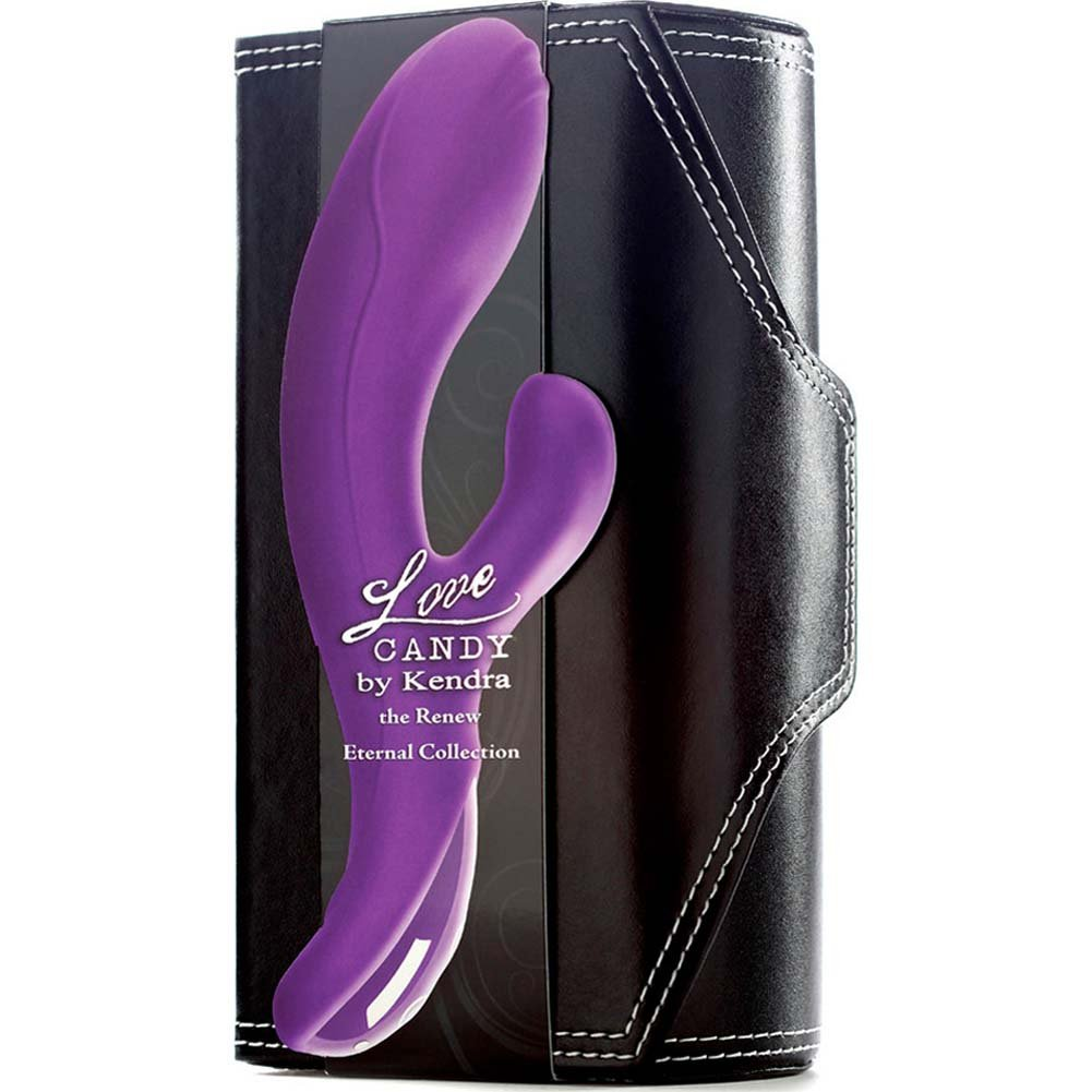 "Renew Silicone Love Candy by Kendra Premium Silicone Vibrator 7.25"" Purple - View #1"