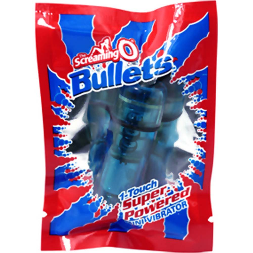 "Screaming O Waterproof Vibrating Bullet 2.25"" Blue - View #1"