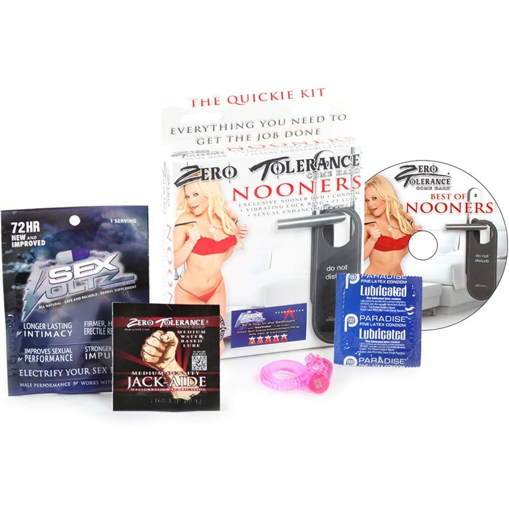 Zero Tolerance Nooners Kit with Cockring Lube and DVD - View #2