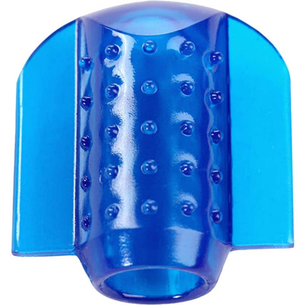 Crossbones Oral Sex Buddy Waterproof Intimate Stimulator Blue - View #3