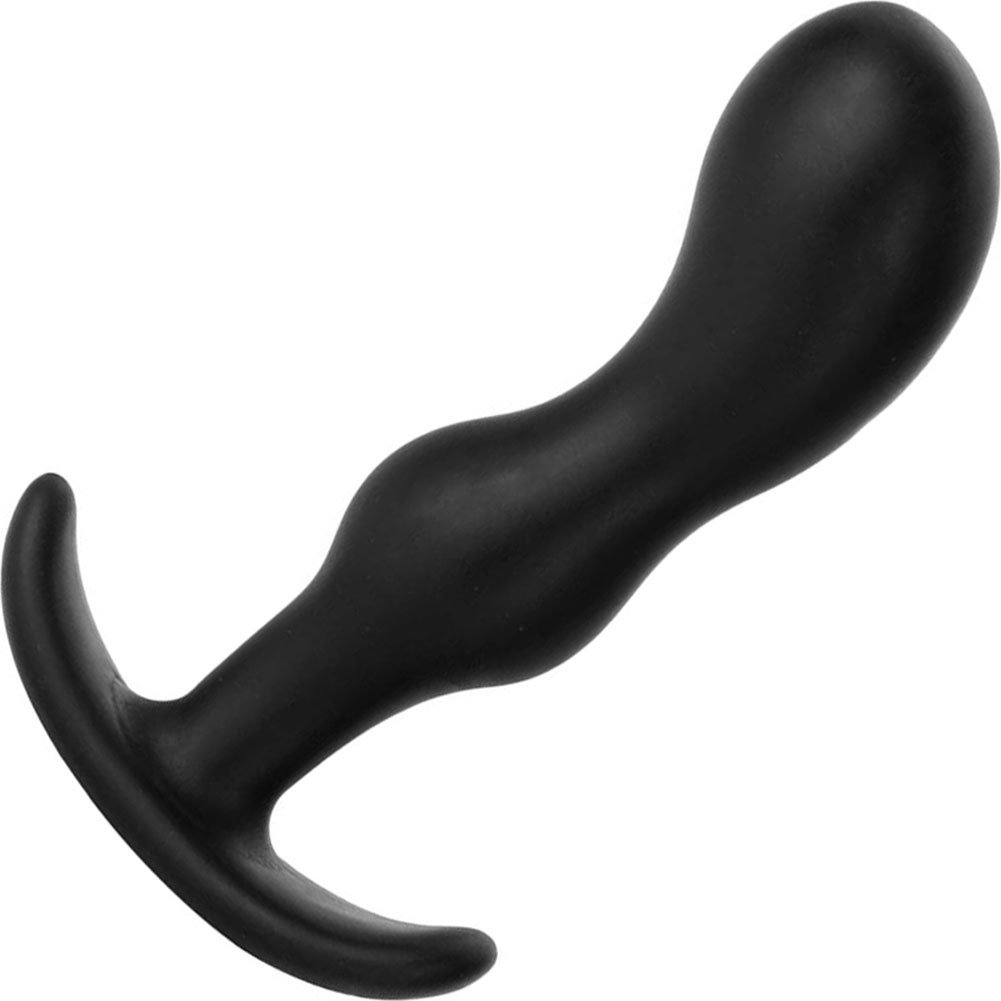 """Mood Naughty 2 Small Silicone Butt Plug 3.25"""" Black - View #2"""