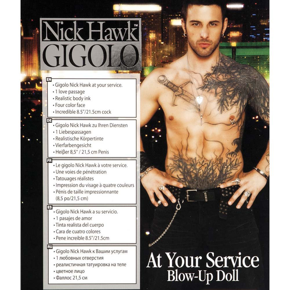 Nick Hawk Gigolo Blow Up Love Doll - View #1