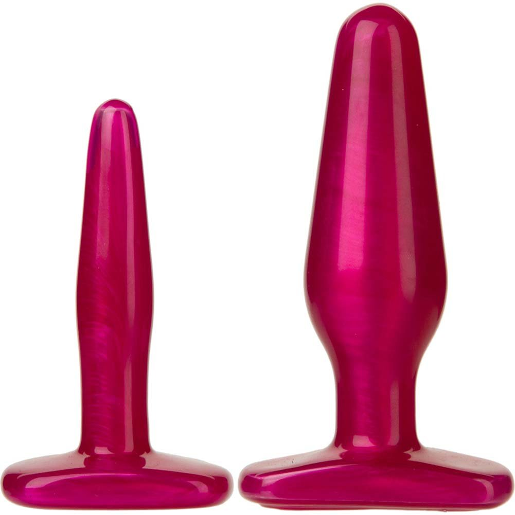 Radiant Gems Anal Trainer Kit with 2 Butt Plugs Fuchsia - View #2