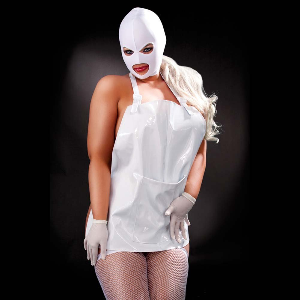 Fetish Fantasy Lingerie Femme Fatale Set Plus Size White - View #3