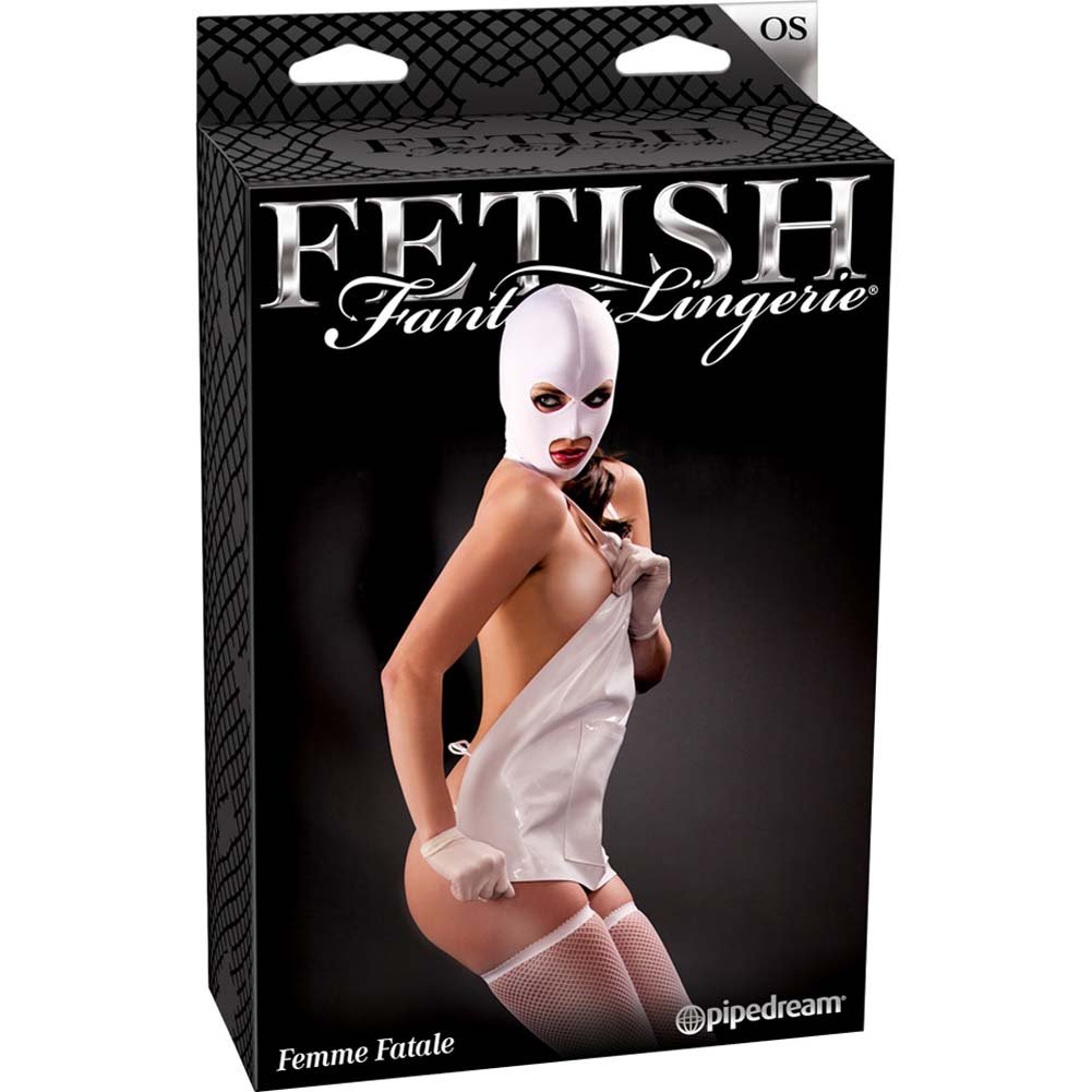 Fetish Fantasy Lingerie Femme Fatale Set White - View #4