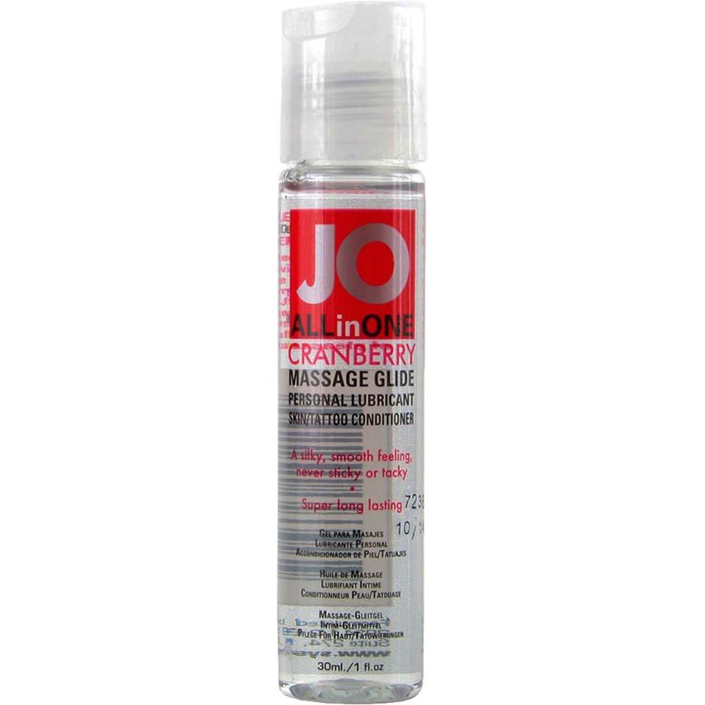 JO All in One Massage Glide Cranberry 1 Fl. Oz. - View #1