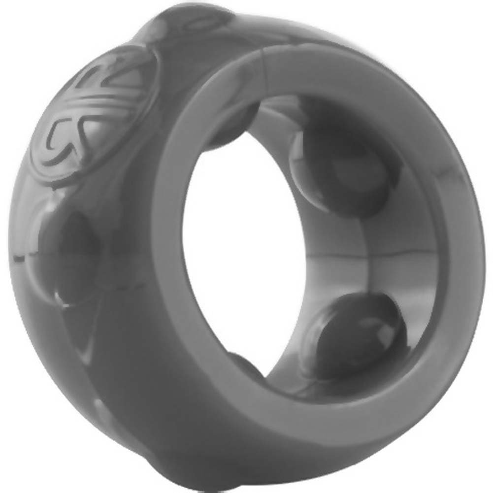 Screaming O RingO Ranglers Cannonball Silicone Cockring Gray - View #1