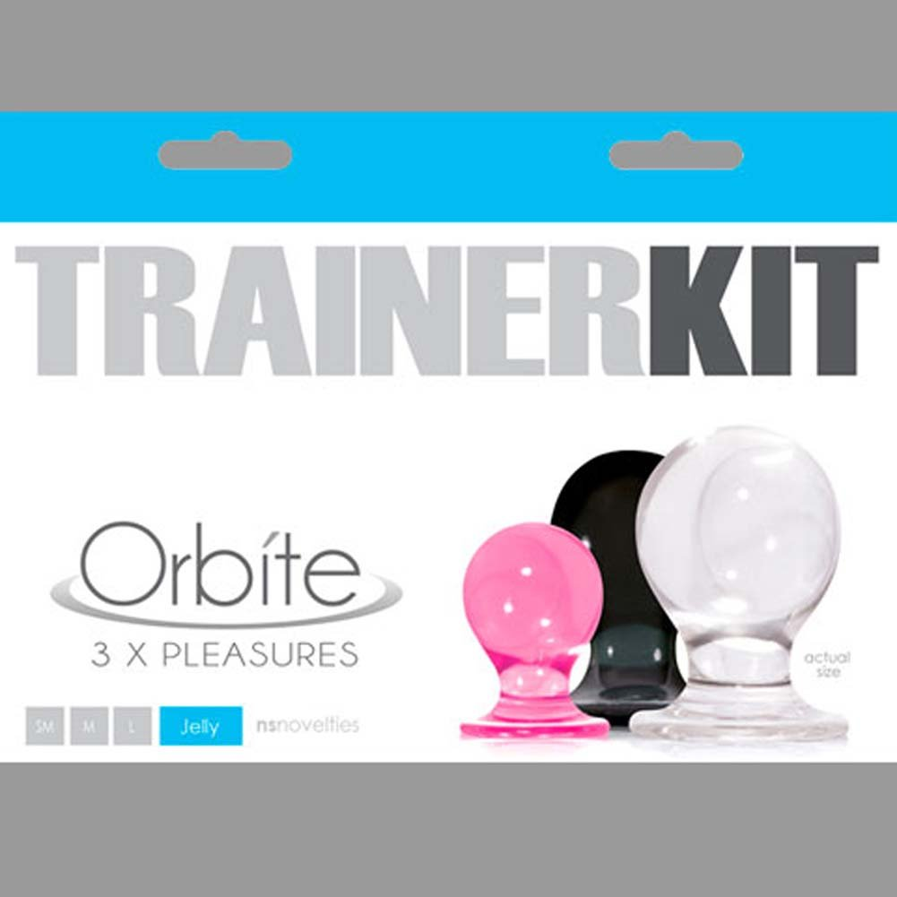 Orbite 3X Pleasures Trainer Kit With 3 Jelly Butt Plugs - View #1