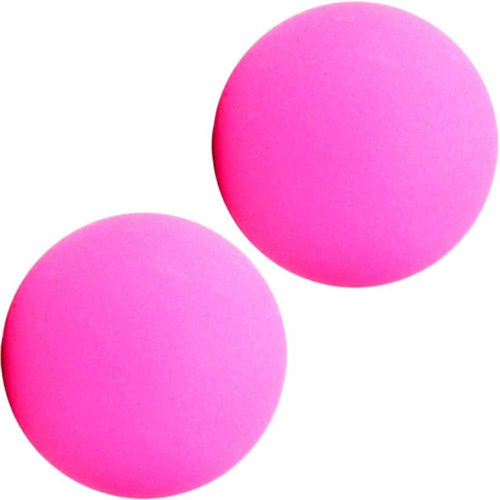 """Maia SB1 Silicone Ben Wa Balls 1"""" Neon Pink - View #2"""