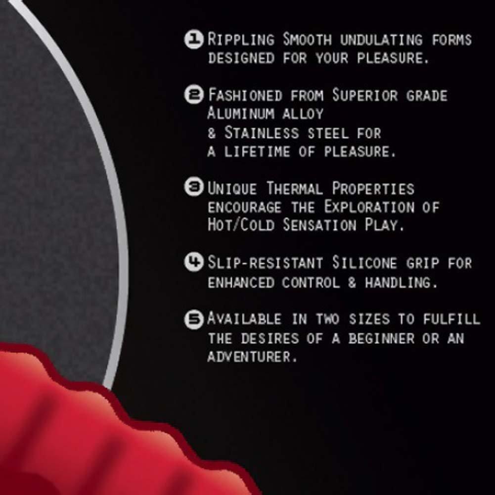 """Dai Do No. 4 Aluminum Alloy Dildo 7"""" Red Devotion - View #2"""
