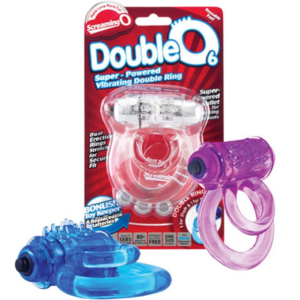 Screaming O Double O 6 Vibrating Silicone Cockring ASSORTED COLORS - View #1