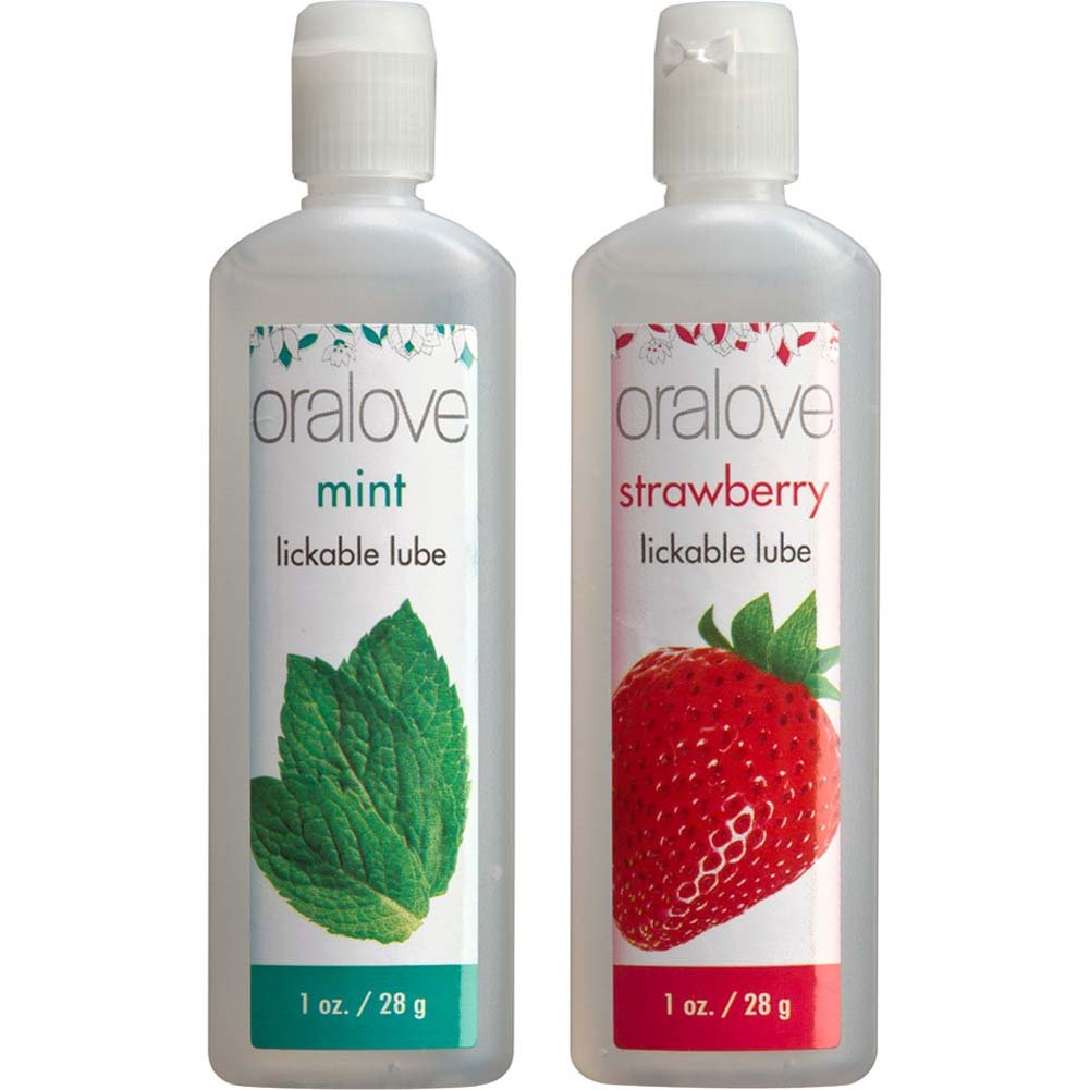 Oralove Delicious Duo Lube Strawberry and Mint - View #2