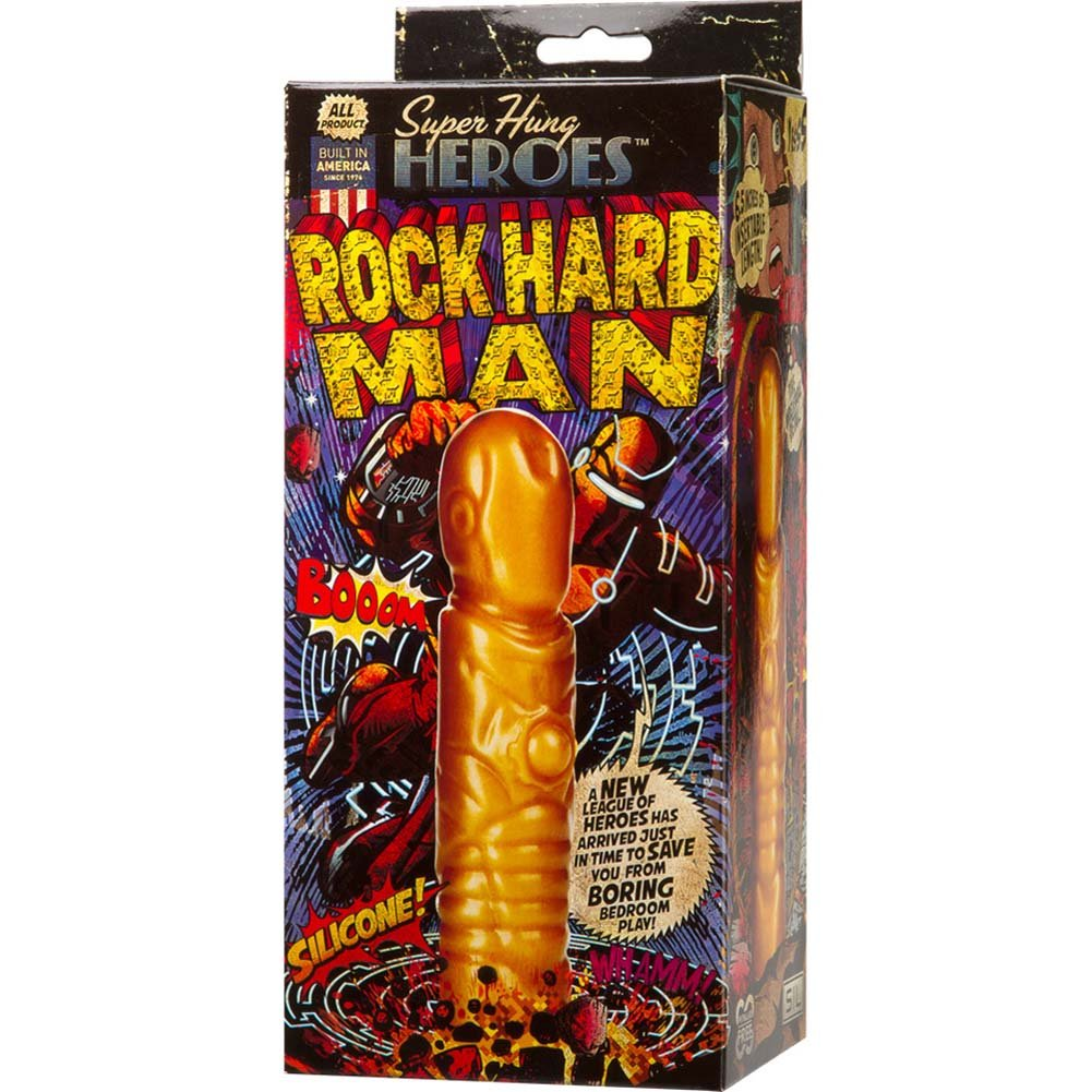 "Super Hung Heroes Rock Hard Man Dong 8"" Gold - View #4"
