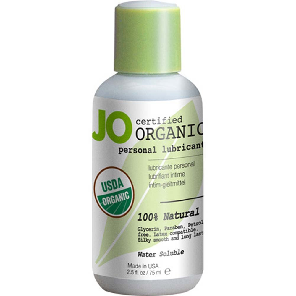JO USDA Certified Organic Water Based Personal Lube 2.5 Fl. Oz. - View #1