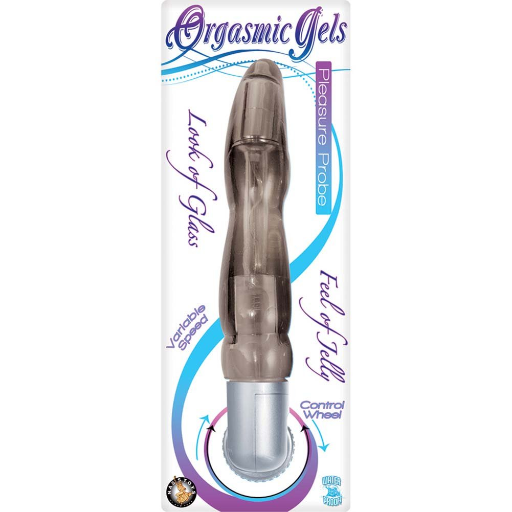 "Orgasmic Gels Pleasure Probe Vibrator 8"" Smoke - View #1"