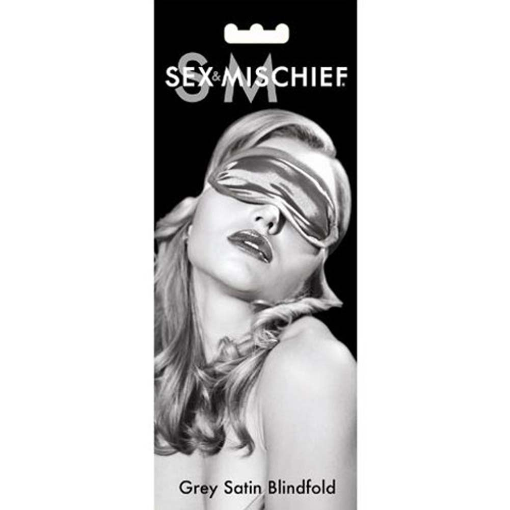 Sex and Mischief SM Satin Blindfold Eye Mask Grey - View #2
