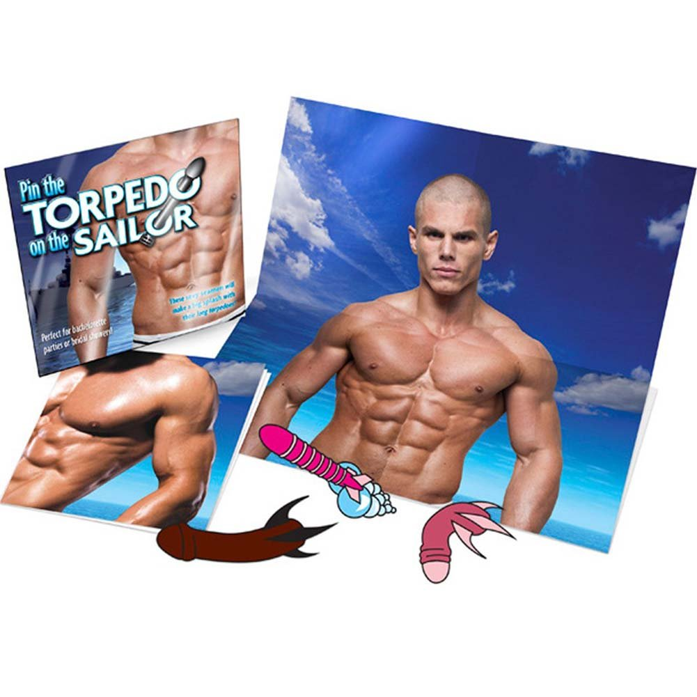 Pin the Torpedo On the Sailor Party Game - View #1