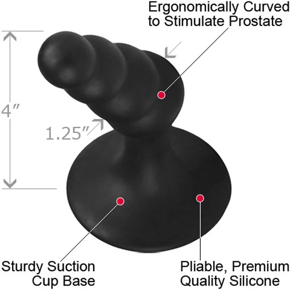"CalExotics Dr. Joel Kaplan Silicone Prostate Probe Graduated 4"" Black - View #1"