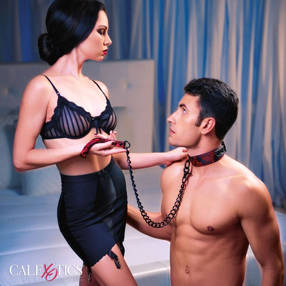 California Exotics Scandal Collar With Leash - View #1