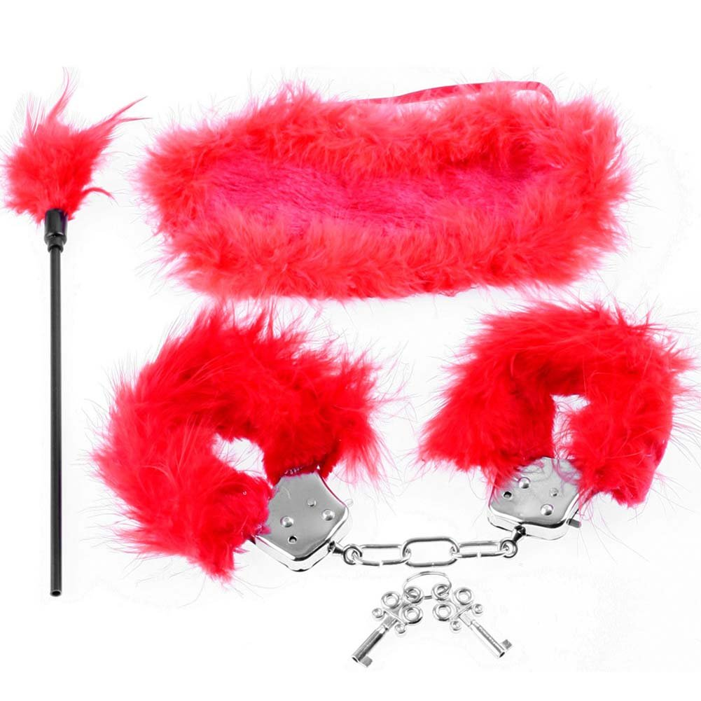Fetish Fantasy Series Feather Fantasy Kit Red - View #2