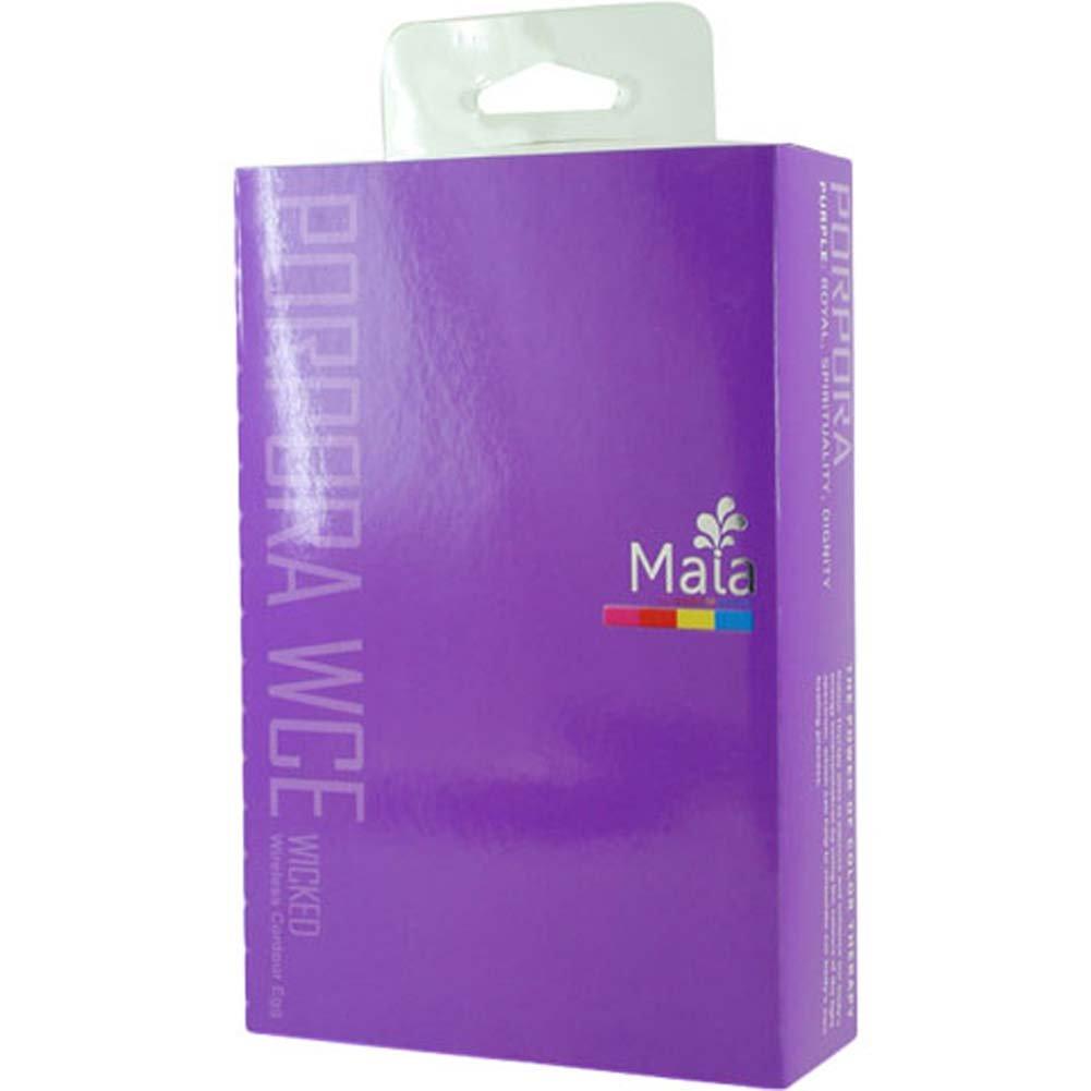 """Maia Porpora WCE Wicked Wireless Contour Vibrating Silicone Egg 4"""" Neon Purple - View #3"""