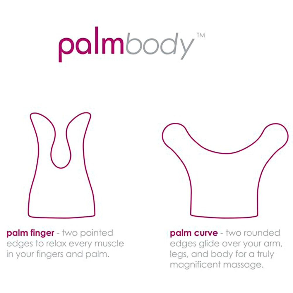 BMS Factory Palm Power Body Massager Silicone Heads Finger and Curve Pink - View #1