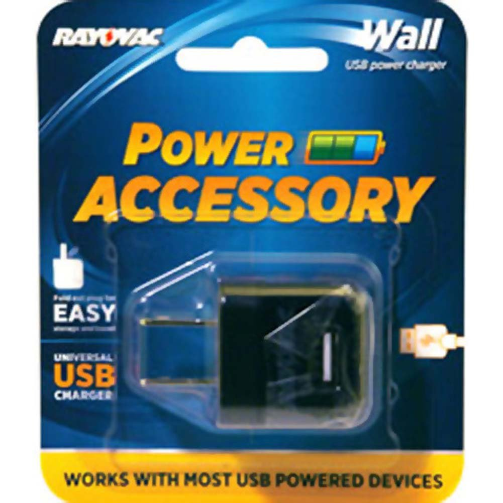 Rayovac Portable Power Universal USB Wall Charger Black - View #1