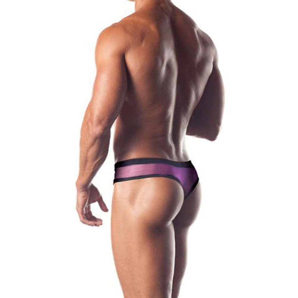 Excite Extreme Series Mesh Thong With Contrasting Colors - View #2