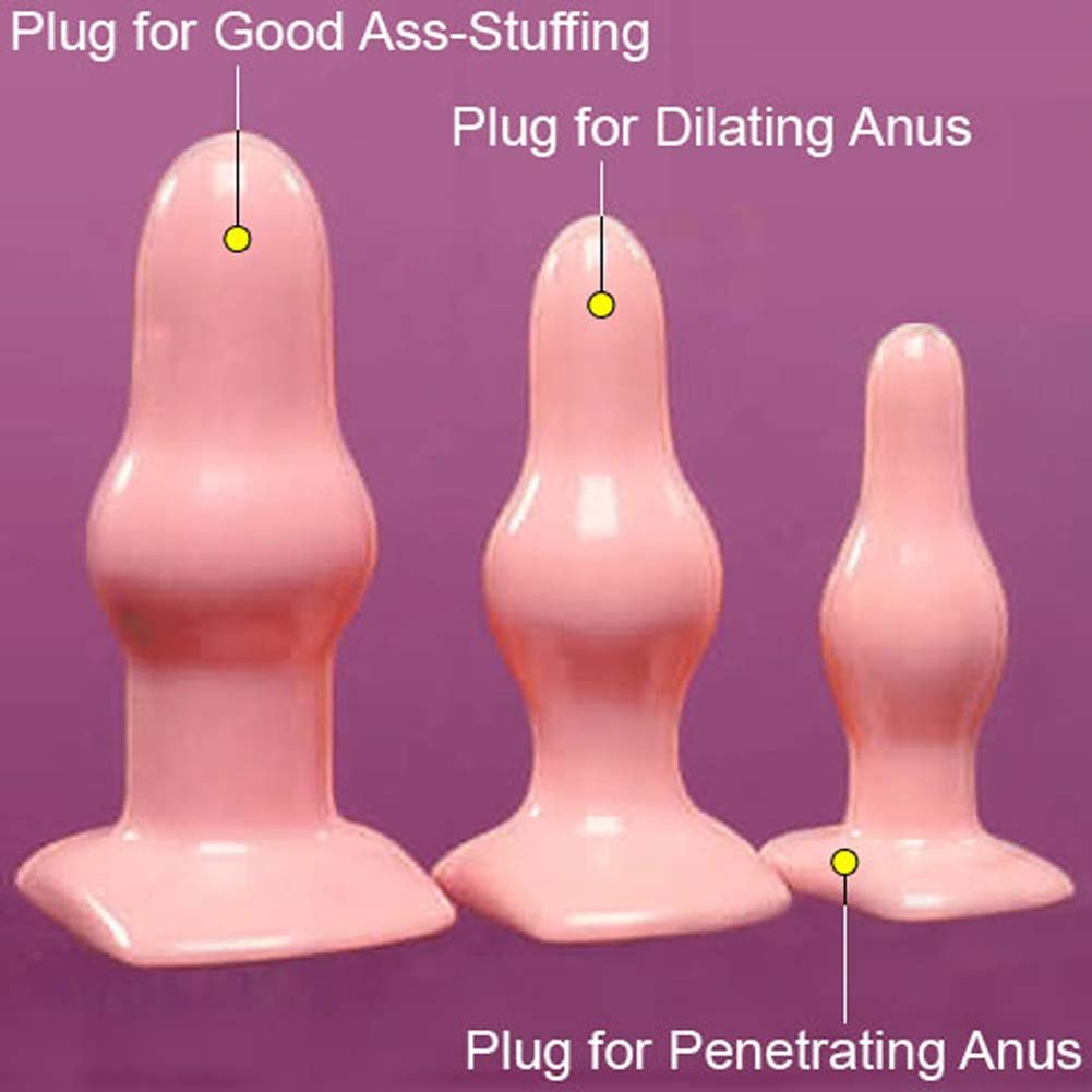 Deeva Toys His and Hers Anal Training Kit with 3 Butt Plugs - View #1