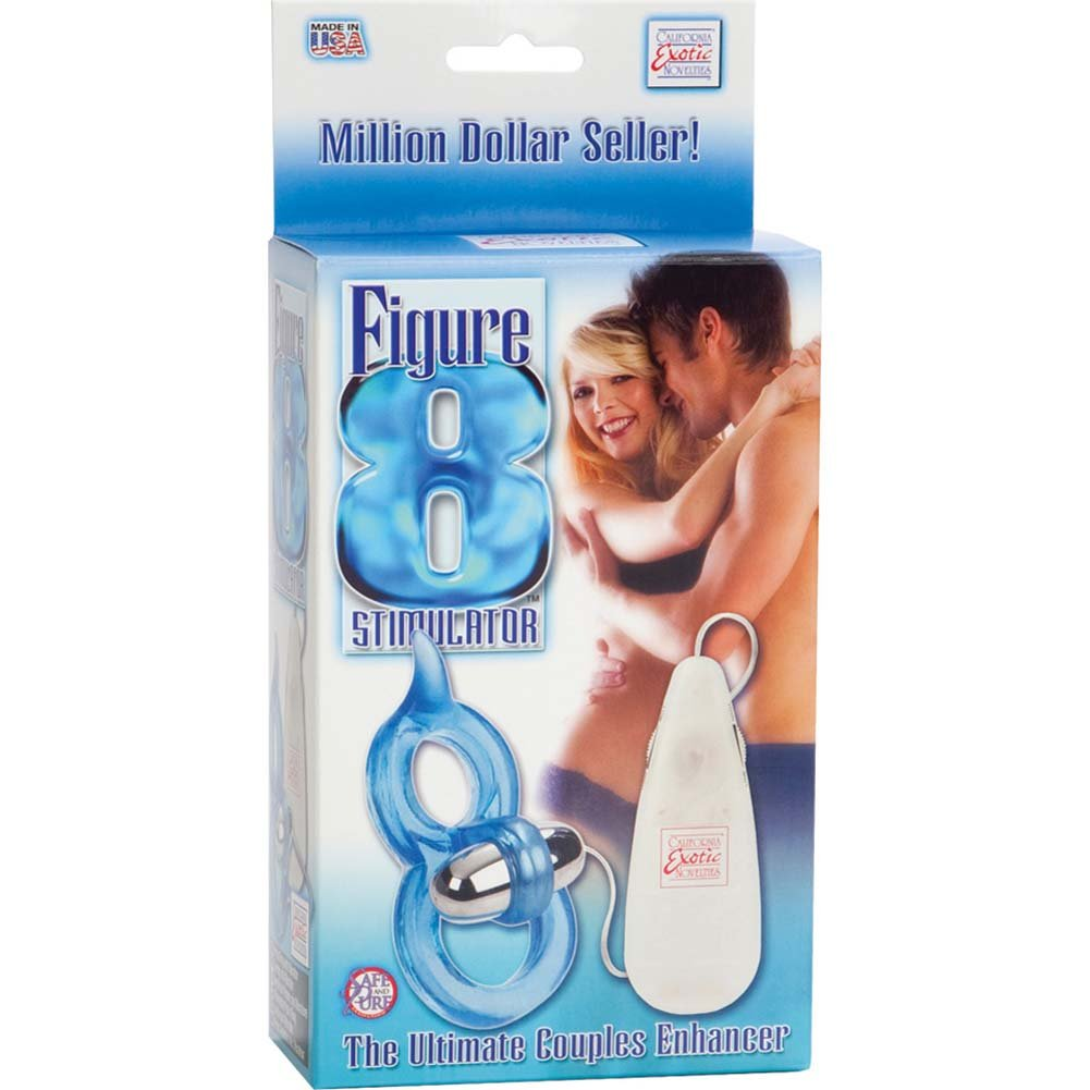 California Exotics Figure 8 Stimulator Vibrating Jelly Cockring - View #4