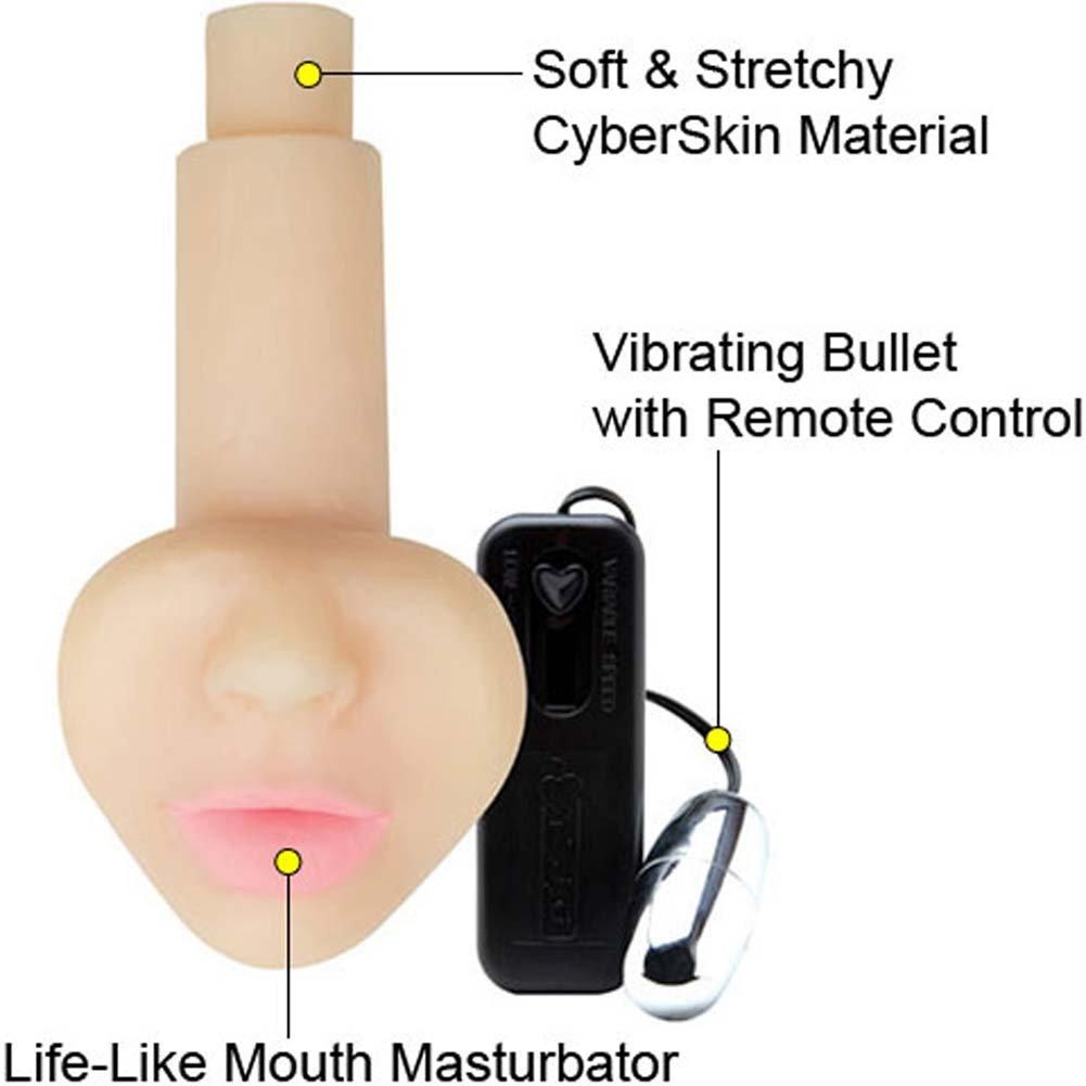 CyberSkin Cyber Suck Vibrating Masturbator - View #1