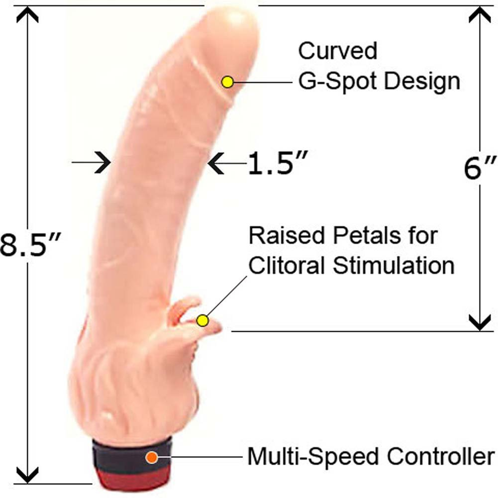 "Super Beak Clitterific Vibrator 8.5"" Natural - View #1"