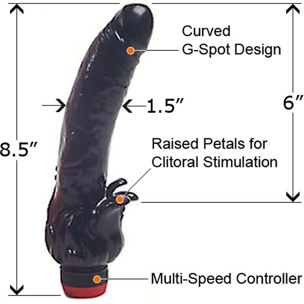 "Super Beak Clitterific Vibrator 8.5"" Ebony - View #1"