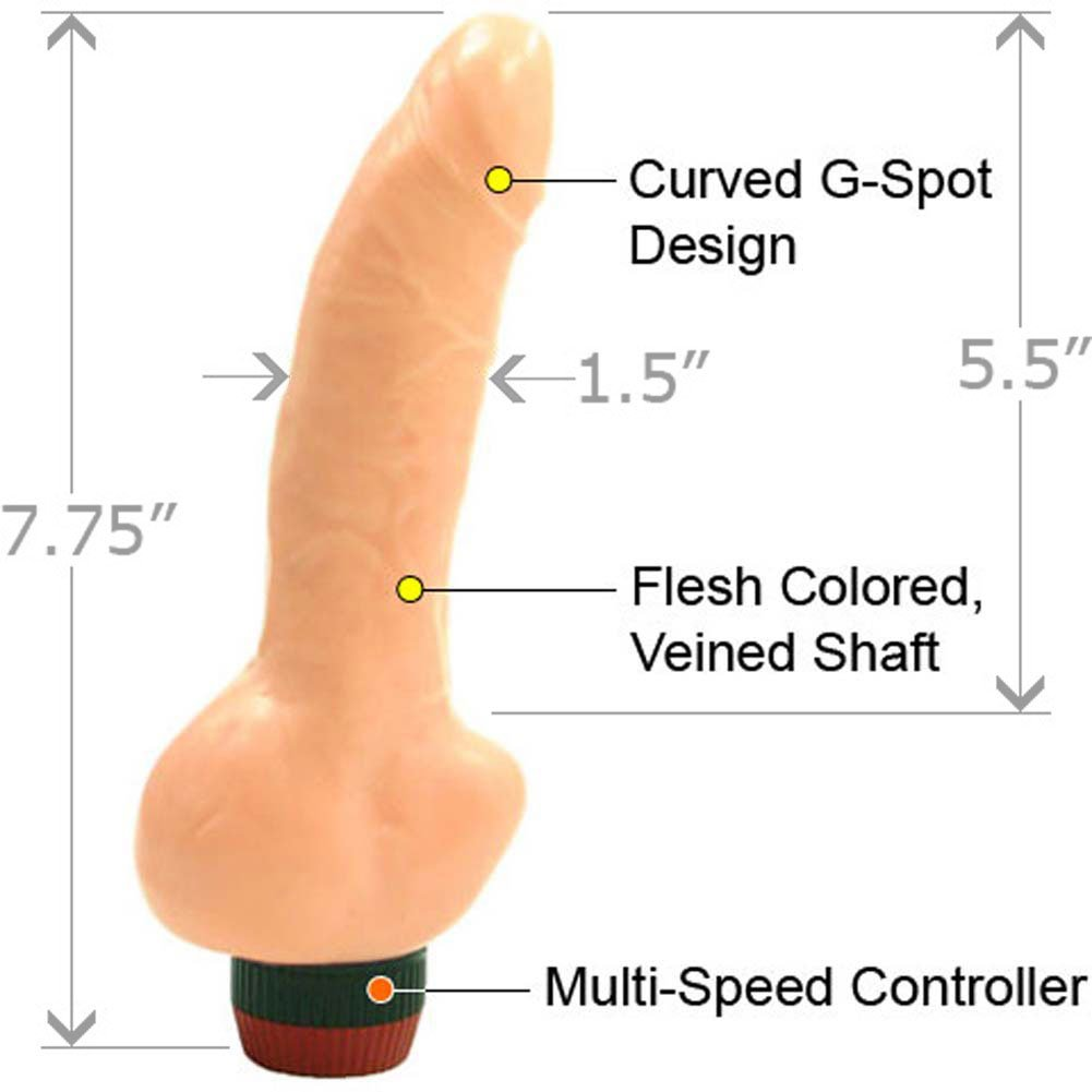 "Sensual Pleaser Vibrator 7.75"" Natural - View #1"