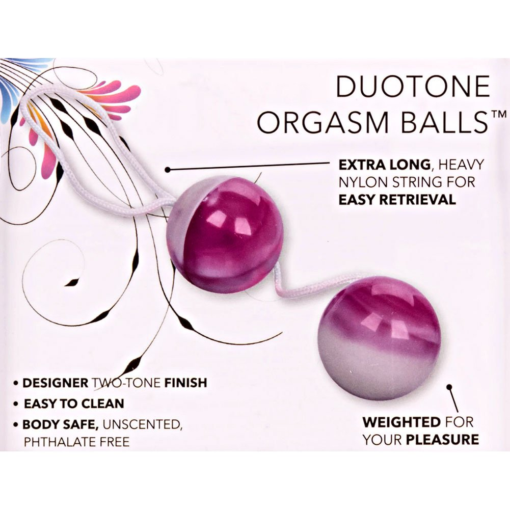 "Duotone Orgasm Balls 1.5"" Purple and White - View #1"