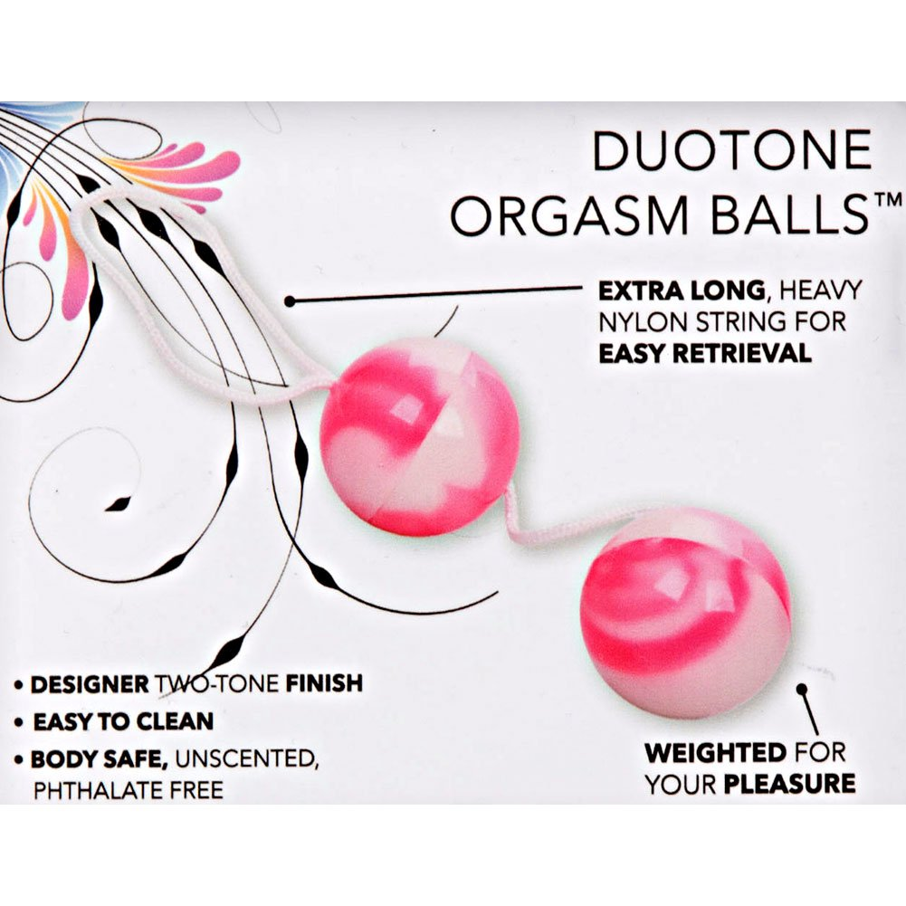 Duotone Orgasm Balls Pink and White 1.5 In. - View #1
