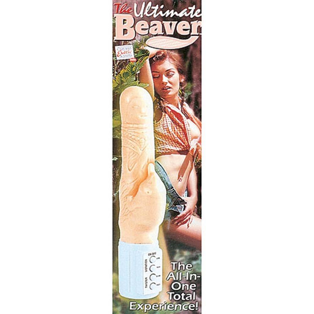 "California Exotics Ultimate Beaver Dual Action Vibrator 7"" Flesh - View #4"