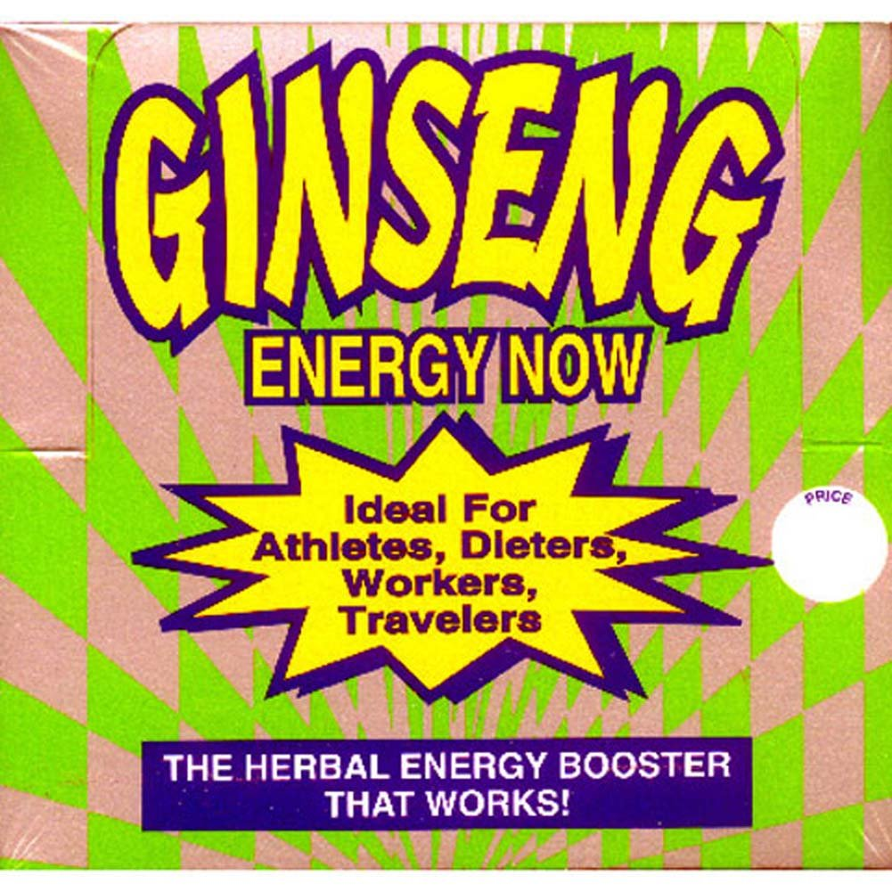 Ginseng Energy Now Counter Display 36 Packets - View #1